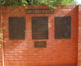 John OBrien Commemorative Wall - Accommodation Broken Hill